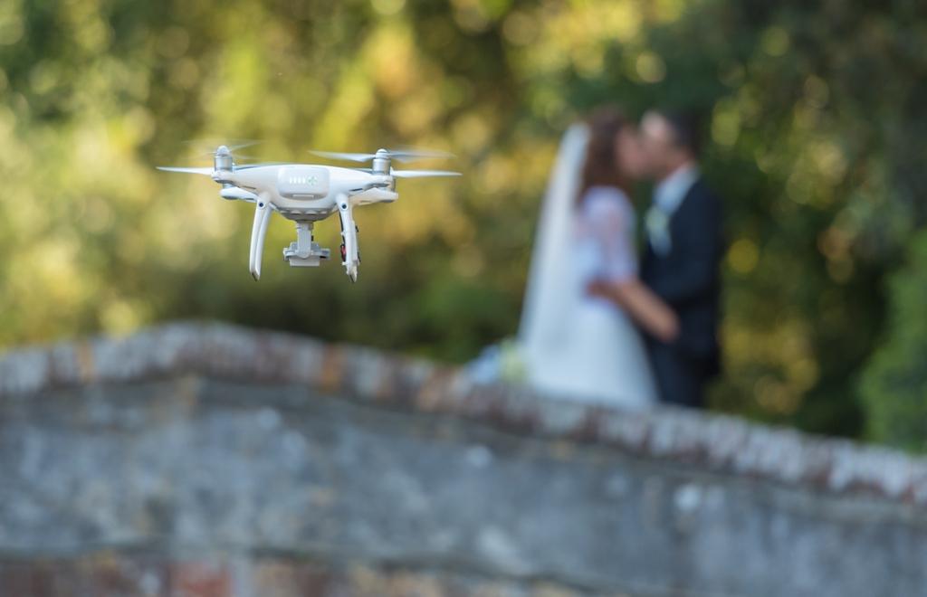 drones em ensaios fotográficos